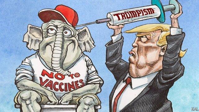 ماجرای کاریکاتور جنجالی اکونومیست با طرح ترامپ / عکس